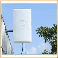 4g lte mimooutdoor antenna 224dbi lte dual polarization panel antenna double sma male connector 10m cable for huawei router