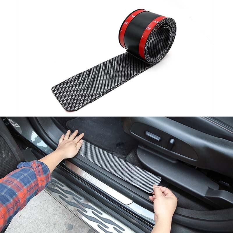 Pegatinas para umbral de puerta de coche 4 Uds., embellecedor de placa de desgaste, accesorios interiores para Pedal de bienvenida, Ford para bmw renault lada toyota