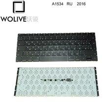 "Wolive oryginalna rosyjska klawiatura dla MacBook Retina 12 ""A1534 RU klawiatura 2016"