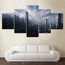 HD drukuj 5 sztuka płótno obraz ścienny na płótnie obraz na płótnie Wall Art do salonu malarstwo Citadel Mass Effect 5 gra