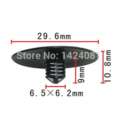 100x OEM Nylon Fastener Rivet Retainer Clip Hood Insulation for Honda(30x9x6mm)  90700-SB2-003    90700SB2003
