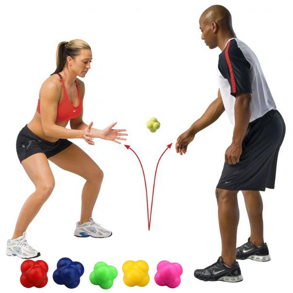 Silicona color rojo reacción pelota rápido velocidad agilidad coordinación Ejercicio de reflejos formación sensible pelota de gimnasio de entrenamiento de equipos