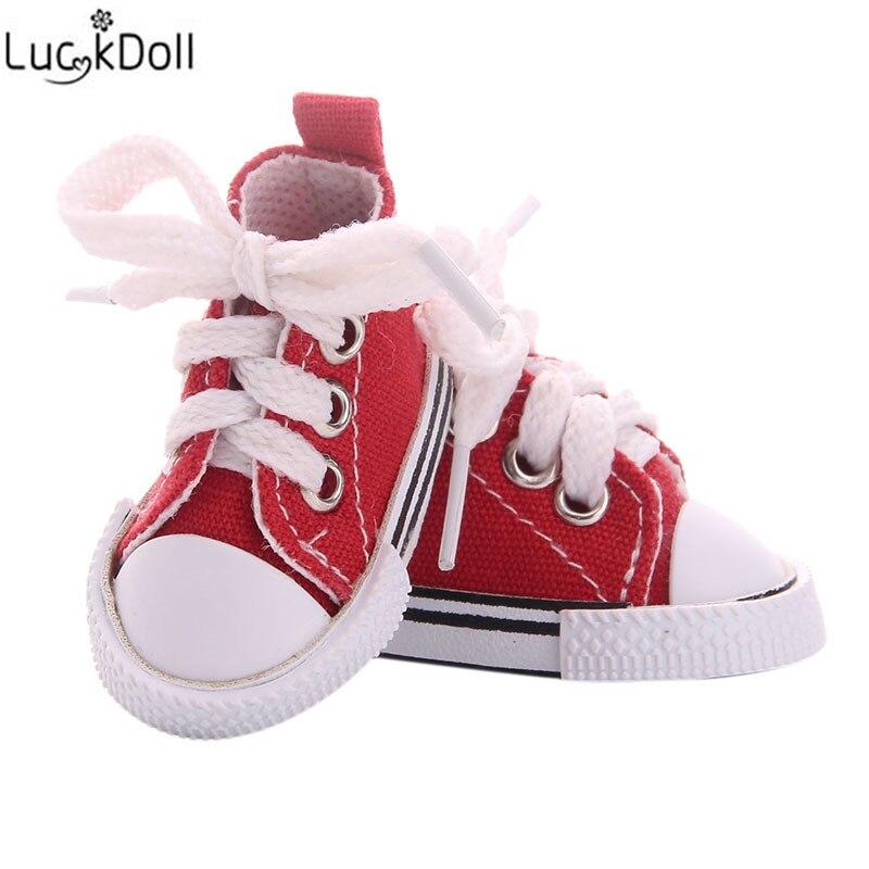LUCKDOLL 5cm בד נעלי Fit BJD בובת בגדי אבזרים, בנות צעצועים, דור, חג המולד מתנה