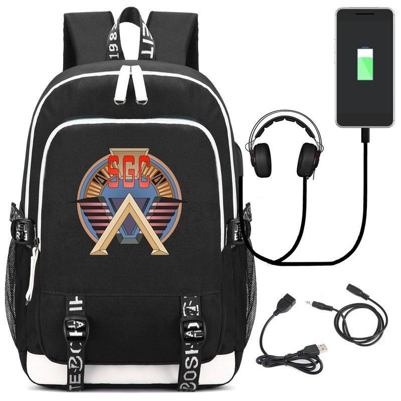 Stargate SG-1 Backpack USB Charge Interface Bags Kids Teens Shoulder Laptop Travel Bags Student School Bags Bookbag Gift