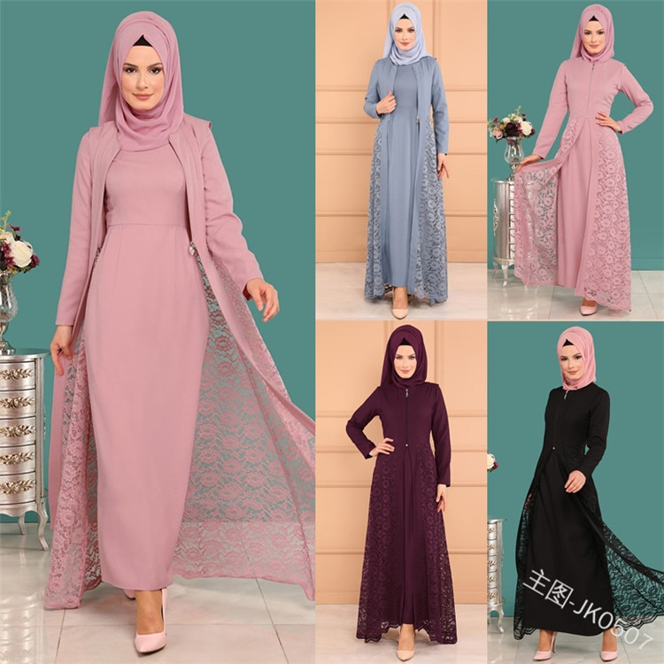 2019 nova moda elegante estilo muçulmano mulher beleza mais tamanho longo abaya S-5XL