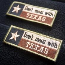 Dezhou Texas Drapeau Broderie Patch Lone Star Logo Moral Patch Tactique Patch Dinsigne de Broderie Insigne de Poitrine