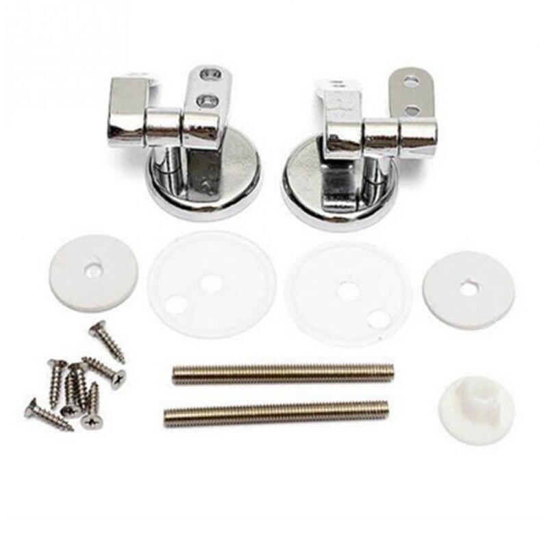 De aleación de reemplazo de bisagras para asiento de inodoro Set de montaje cromo con accesorios de tornillos para baño accesorios