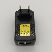 1 шт. CCTV безопасности 48 В 0.5A 24 Вт POE адаптер дюбель Инжектор PoE Ethernet адаптер IP камера телефон poe источник питания США ЕС вилка