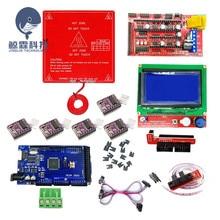 Kit de impresora 3D MK2B cama térmica + Mega 2560 R3 + rampas 1,4 + LCD 12864 + 6x interruptor óptico Endstop + 5x DRV8825 controlador de Motor paso a paso