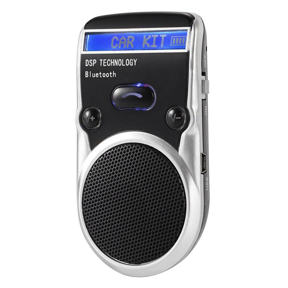 Новый Bluetooth автомобильный комплект с солнечной энергией, ЖК-дисплей, громкая связь, Bluetooth динамик, автомобильный комплект, удобство, Определитель номера, высокое качество