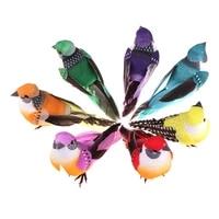 Plume artificielle en mousse 6 pieces  perles realistes  Simulation doiseau  artisanat de fete  accessoires dornement  decoration de jardin de maison  de mariage