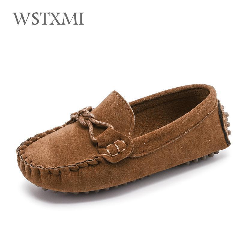 Mocasines para niños, zapatos planos informales, zapatillas de piel aterciopelada, mocasines para niños, zapatos de colegio clásicos transpirables suaves