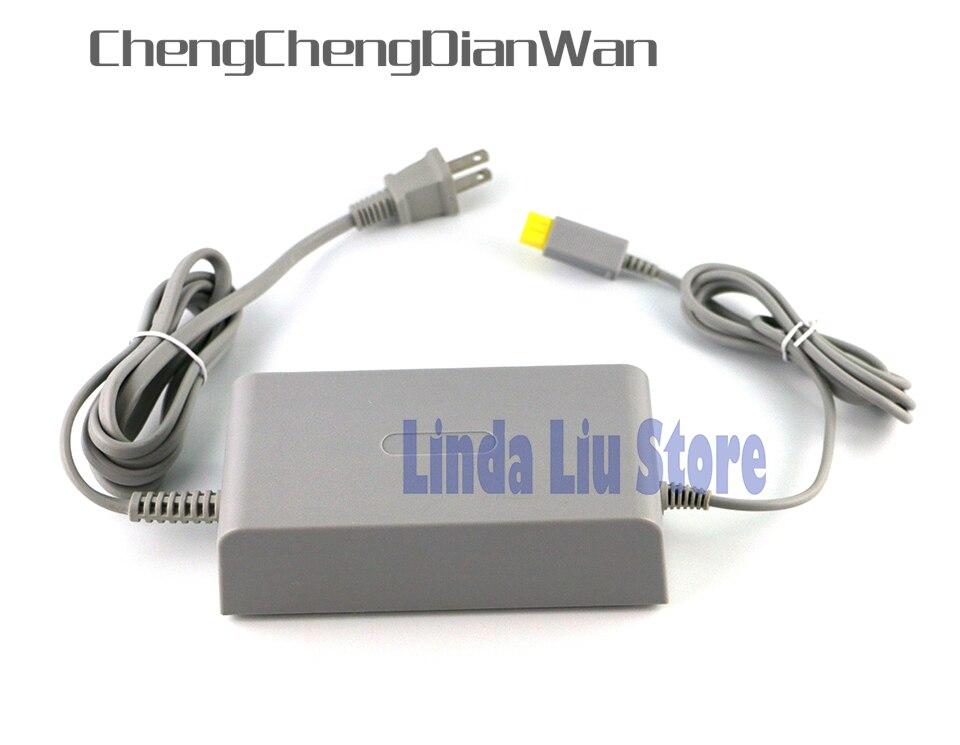 ChengChengDianWan 10 Uds nos casa toma de corriente de pared de suministro de adaptador de cargador de CA de Cable para Wii U WiiU consola de 100-240V DC 15V 5A por DHL/EMS