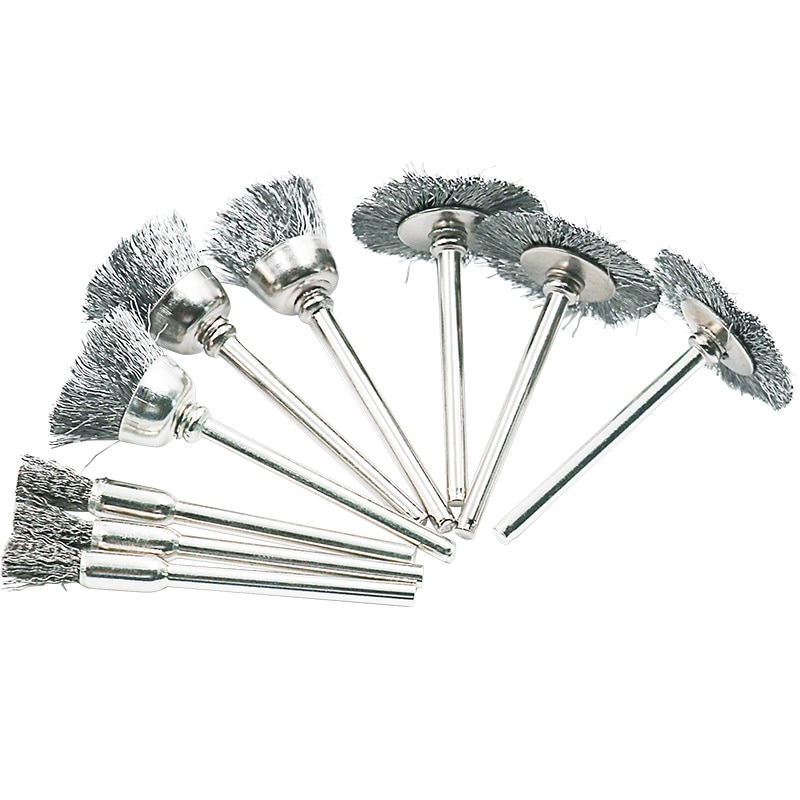 9ks ocelový kartáč drátěný kartáč na kolo rotační nástroj - Brusné nástroje - Fotografie 5