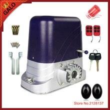 GALO ouvre-porte coulissant 24V cc   500kg, moteur de porte électrique 24V cc, avec 2 télécommande, 1 cellule photo, 1 lampe clignotante en option
