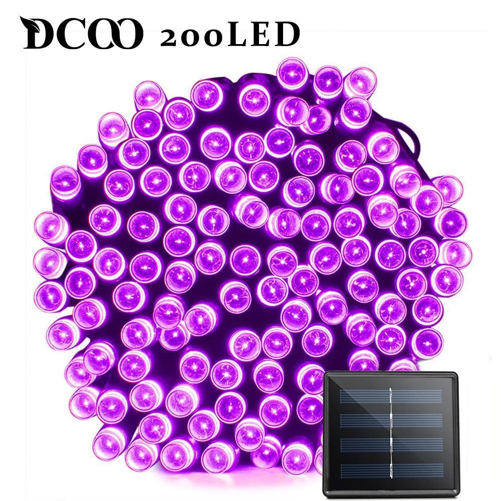 Dcoo LED Solar Light 72ft 22m 200 LED 8 Modes Garden Light Solar Lamp Led Solar Light Garden Lighting Led Outdoor Waterproof