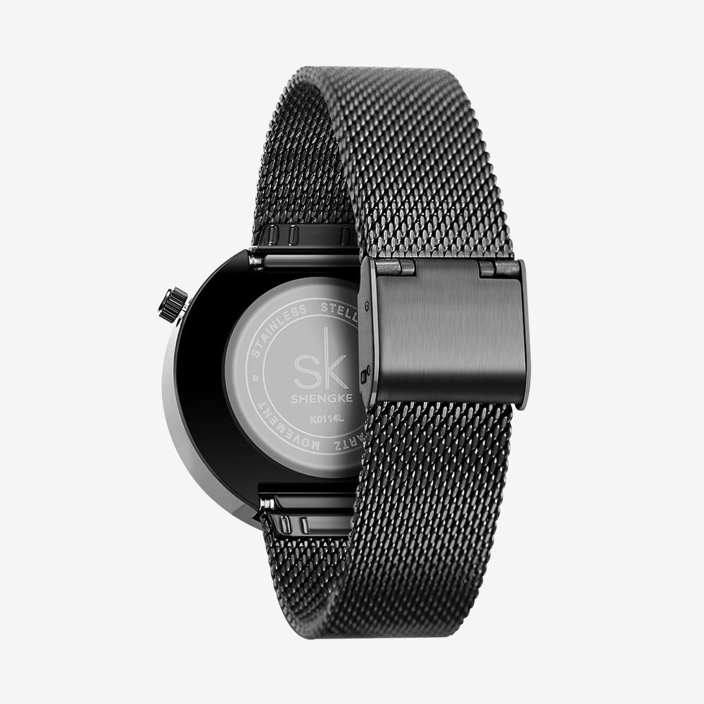 Shengke Luxury Brand Watch Women Fashion Dress Quartz Watch Ladies Full Steel Mesh Strap Waterproof Watches Relogio Feminino enlarge