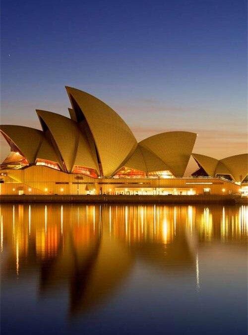 DIY diamante pintura bordado diamante Casa de la Ópera australiana paisaje punto de cruz estrás hogar regalo
