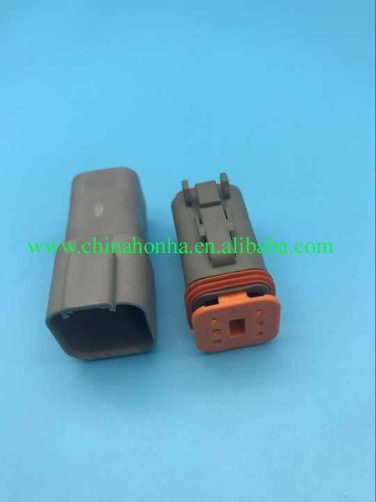 Envío gratis 10 Uds Kits seis pines macho hembra enchufe de conector automático para coches impermeable DT06-6S DT04-6P nuevo