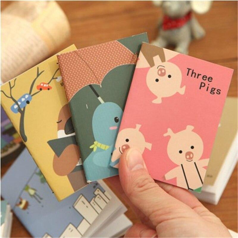 Mini Cute Kawaii agenda libro Cartoon Animal Notepads planificador para niños regalo de los estudiantes útiles escolares coreano papelería