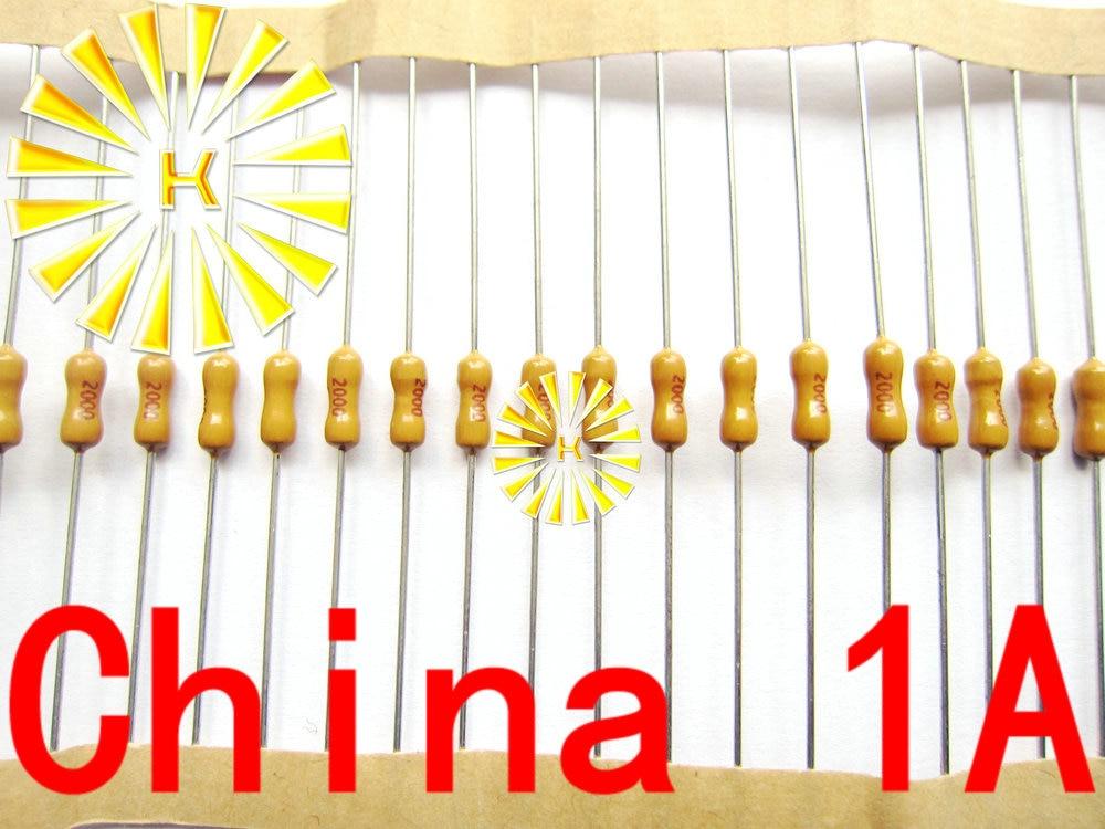 100 Uds x 0.5A 1A 2A 3A 5A 7A 125V 2,4*7mm axiales amarillo fusible 2000mA 250V lenta PICO resistencia fusible envío gratis