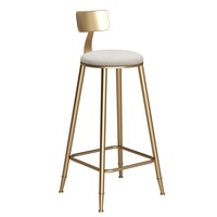 20% Bar stool Nordic wrought iron bar chair front bar stool home backrest bar cashier front desk high stool