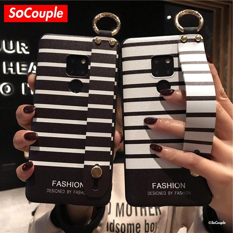 SoCouple Handgelenk Strap Telefon Fällen Für Huawei Mate 10 20 Pro 30 Lite P10 P20 P30 Pro Lite Nova 3i 5i Pro Honor 10 20 Weiche TPU Fall
