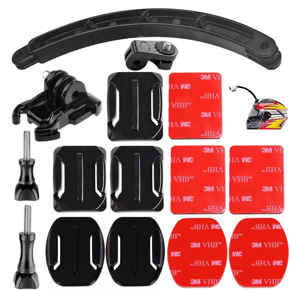 Brazo de extensión para casco montaje Monopod para Sony Action Cam HDR AS20 AS50 AS100V AS30V AZ1 AS200V AS300R FDR-X1000V X3000R xiaomi yi