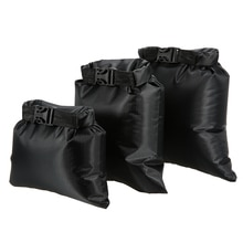 Sac sec étanche de 1l + 2l + 3l, sac de rangement ultraléger et pliable pour Camping, Rafting, kayak, natation et plein air, 3 pièces/ensemble