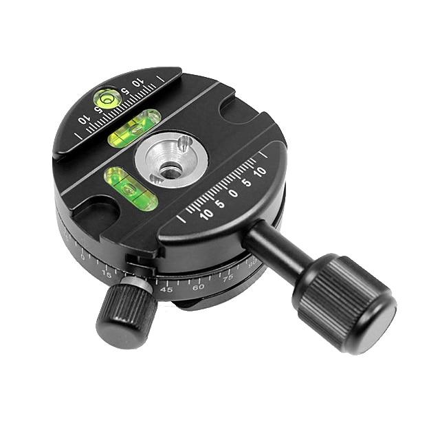 Professional Tripod Monopod panorama clamp quick release plate 360-degree panorama panoramic ball head PU60 Camera Accessories