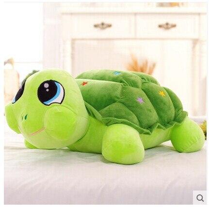 Aproximadamente 35cm tortuga colorida de peluche de juguete muñeco de tortuga de regalo t8848