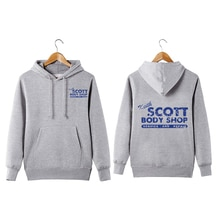 Vintage Style Keith Scott Body Shop Pullover Hoodie one tree hill car mechanic  Keith Scott Body Sho