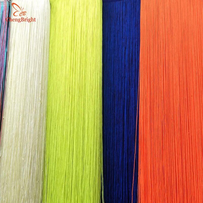 CHENGBRIGHT 1 Yard 100CM White Long Lace Tassel Fringe Lace Trim Ribbon Sew Latin Dress Stage Garment Curtain DIY Accessories