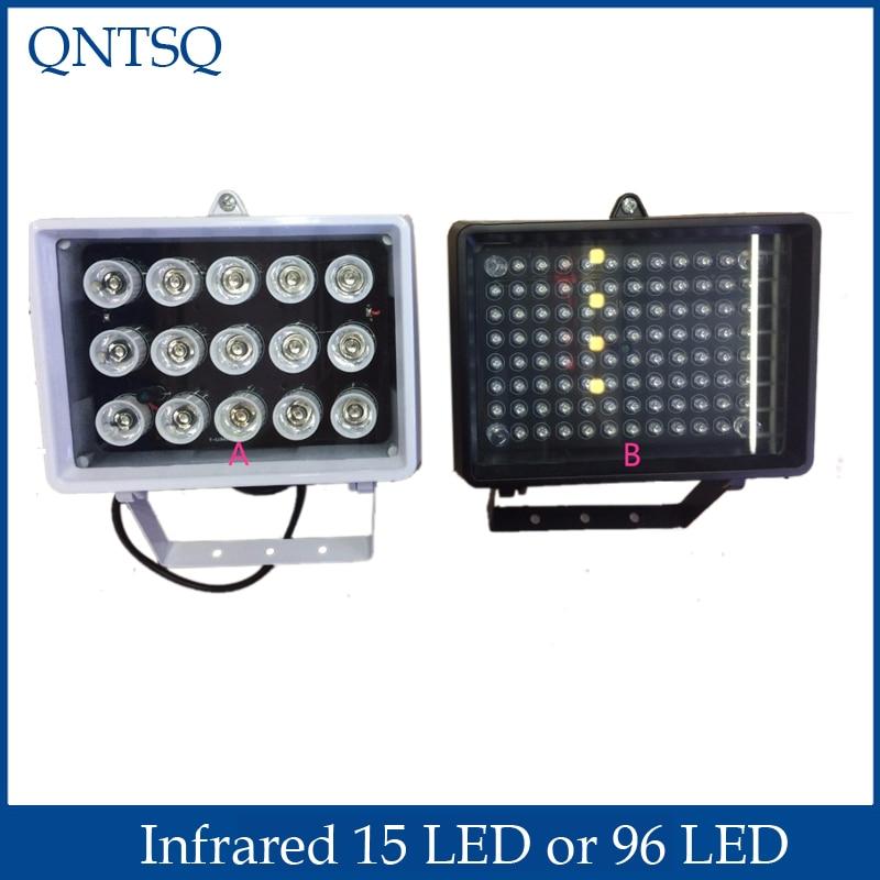 Infrarrojos 96 LED o 15 LED iluminador por infrarrojos luces para cámara de seguridad cctv de la visión nocturna para cámara de vigilancia