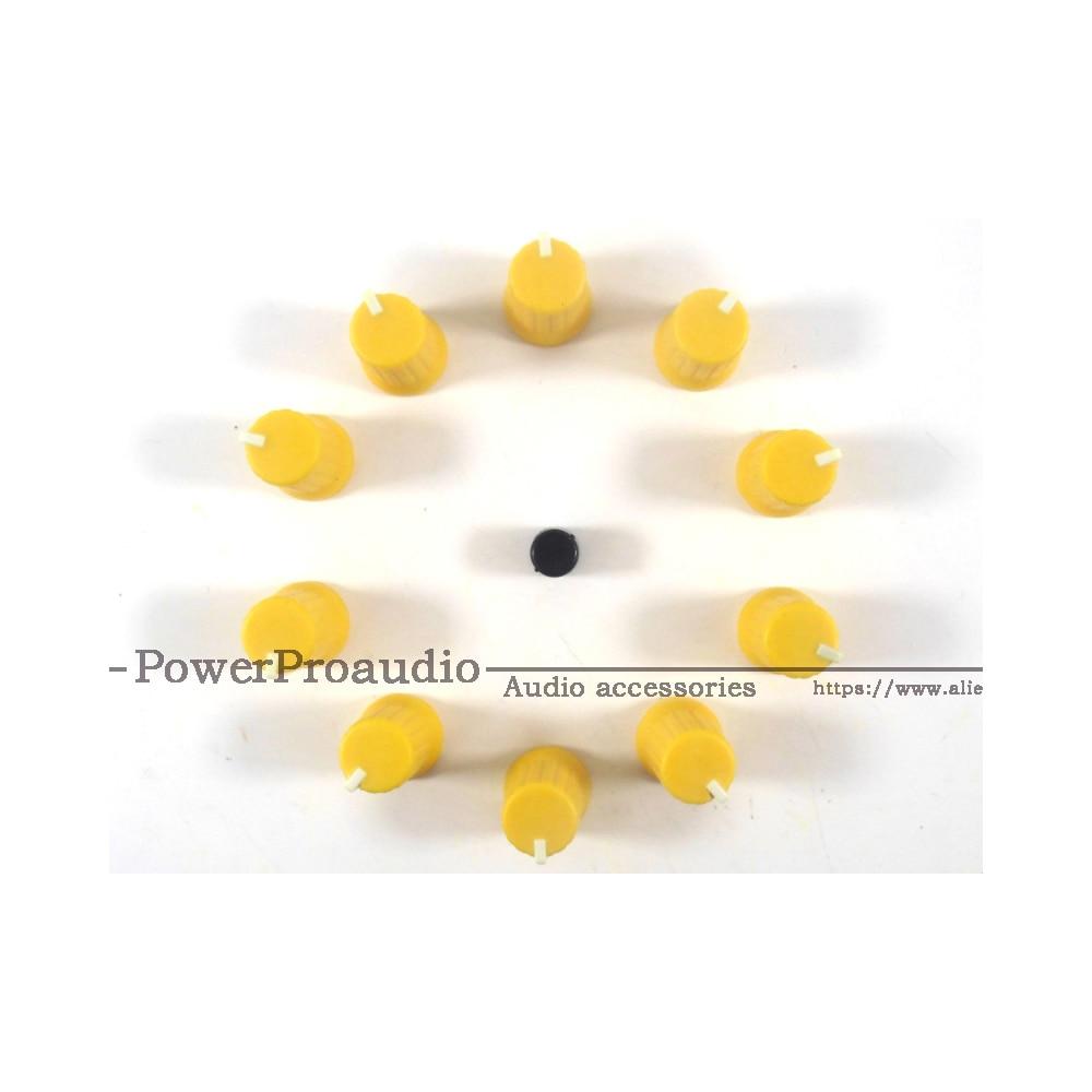 10 Uds. Mando de Control giratorio amarillo para Pioneer XDJ-RX R1 RZ AERO DJM-T1 S9 DIY DJ color amarillo