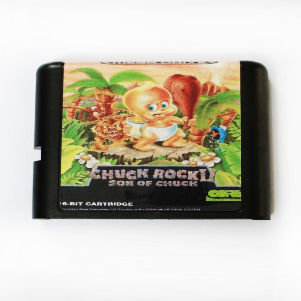Chuck Rock II (2) 16 bit tarjeta de juego MD para Sega Mega Drive para SEGA Génesis