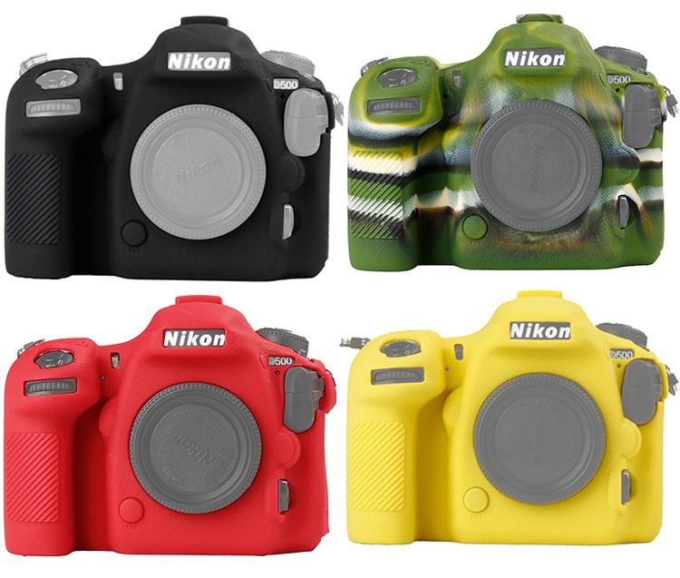 جراب واقٍ للكاميرا من المطاط والسيليكون ، جراب ناعم عالي الجودة لكاميرا Nikon D500 DSLR ، غطاء واقي