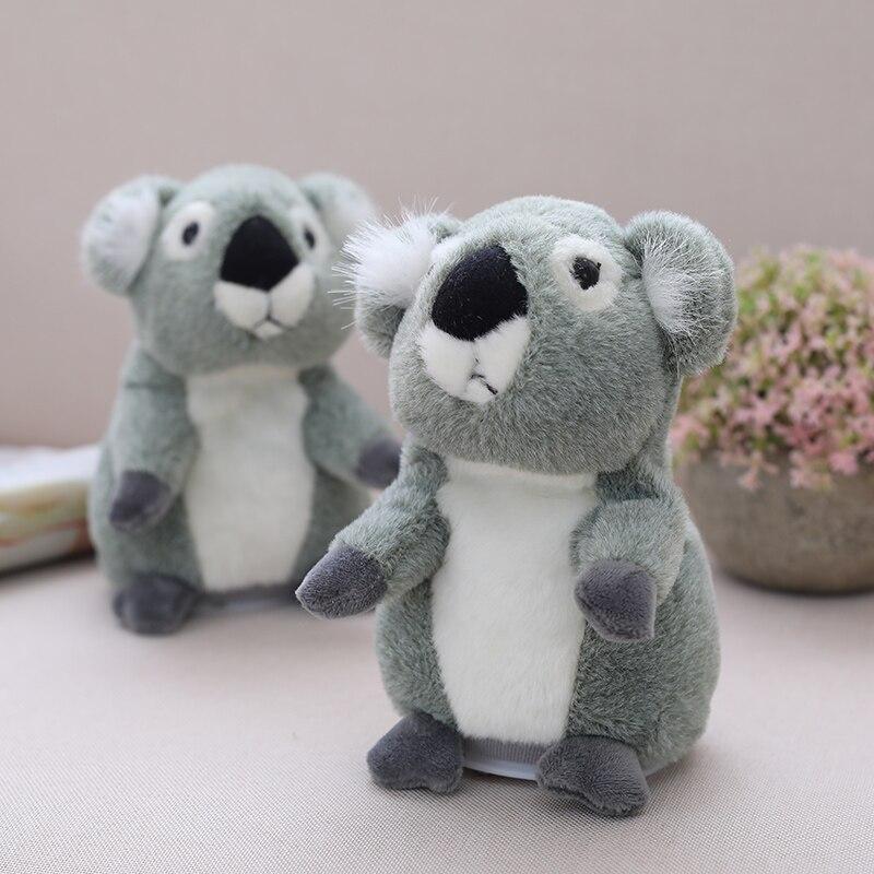 Koala que habla, juguete de felpa para mascotas, repite lo que dice, juguete educativo, muñeco de hámster para niños, regalo de 18cm
