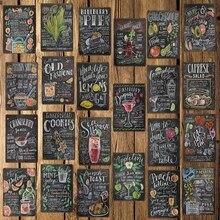 WellCraft   Plaque murale, signes en métal, tarte à salade Cocktail, décor pour Bar Pub hôtel, grille de peinture en fer,