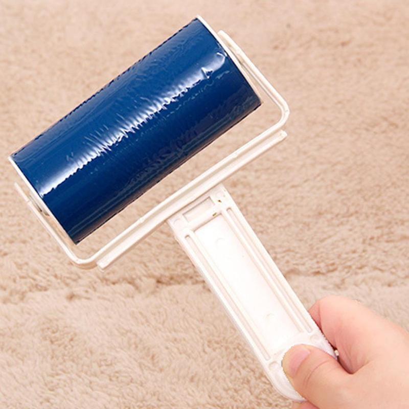 Reutilizable, lavable, rodillo de pelusa, silicona pegajosa, limpiador de polvo, removedor de pelo de mascota, utensilios cepillo de limpieza para muebles de tela para mascotas