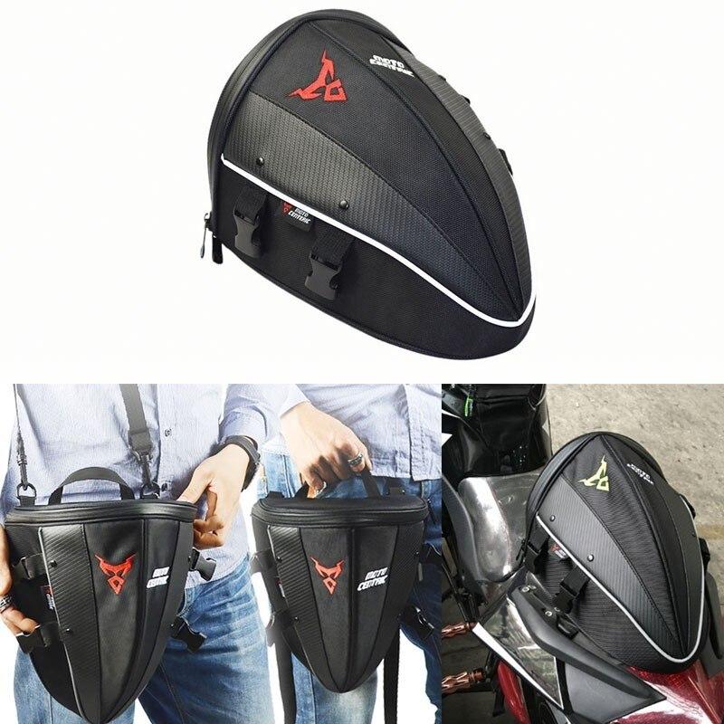 Moto cruz mochila moto moto rcycle traseiro sela tanque saco de bagagem cauda volta assento oxford caso ombro mochila à prova dwaterproof água