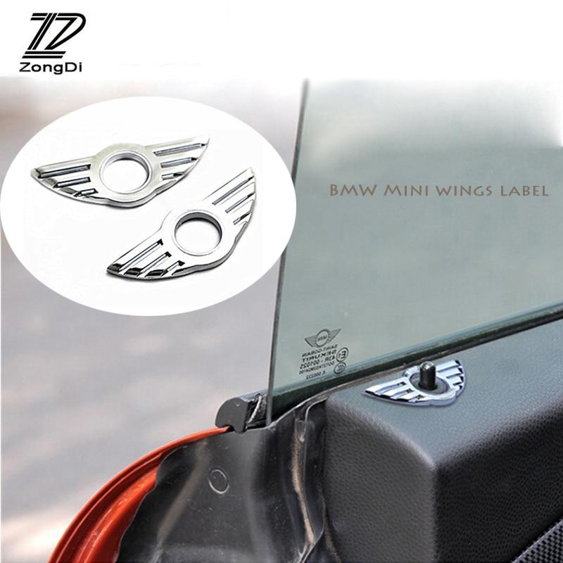 ZD 1pcs For BMW Mini Cooper Countryman R56 R50 R53 F56 F55 R60 R57 Car Door Pin Lock Wing Emblem Badge Stickers Decorative Cover