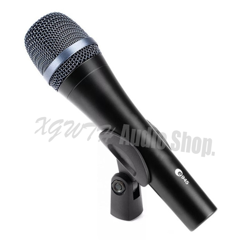 Profesional E945 Dynamic hipercardioid Vocal Wired Karaoke micrófono Audio E 945 equipo de estudio de grabación Mic