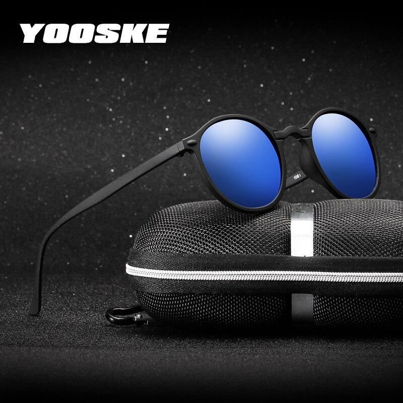 YOOSKE поляризованные солнцезащитные очки ночного видения для мужчин и женщин, маленькие круглые очки, желтые солнцезащитные очки для вождения ночью, UV400
