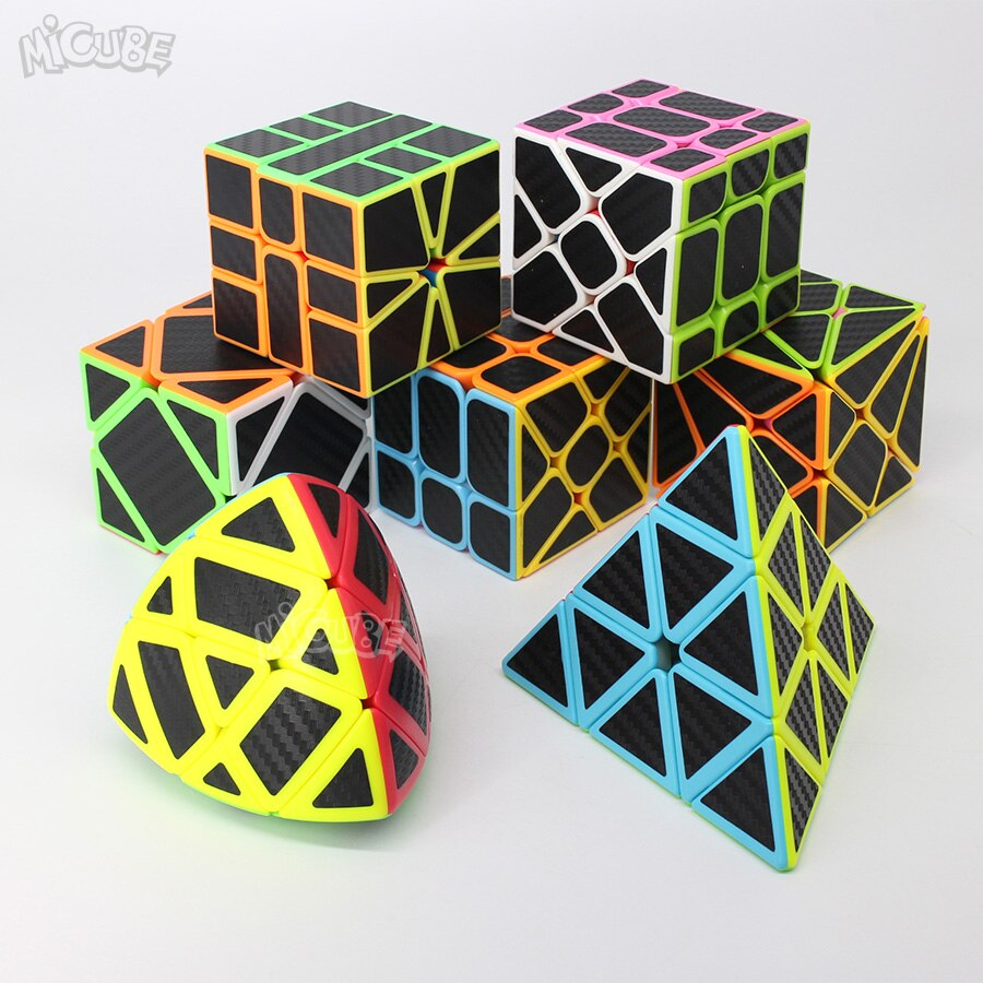 Carbon Fiber Cube Magic Cube Geschwindigkeit 3x3x3 2x2 3x3 4x4 5x5 Pyramide SQ1 Skew Puzzle Neo Cubo Magico 2x2x2 4x4x4 spielzeug Für Kinder
