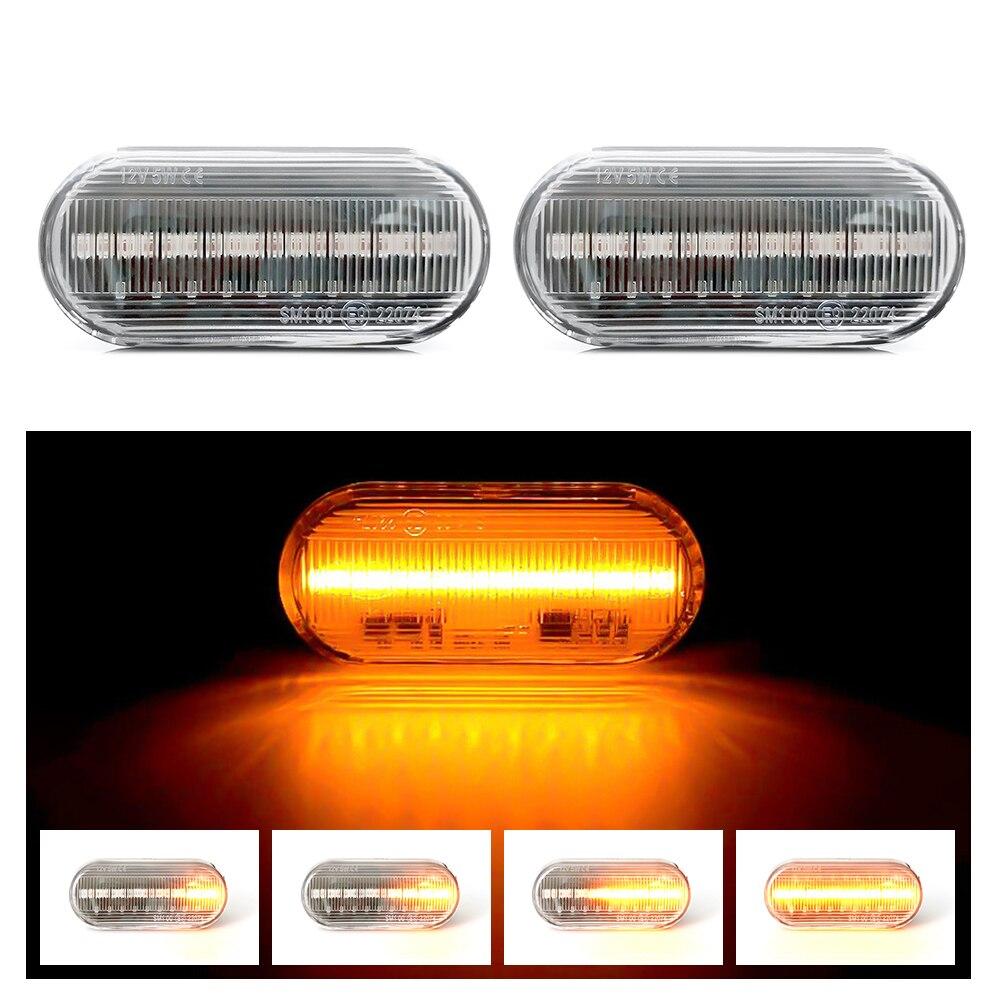 Flowing Water Car Side Marker Light Blinker Amber Smoke LED Dynamic Turn Signal Lamp for VW Bora Golf 3 4 Passat 3BG Polo SB6
