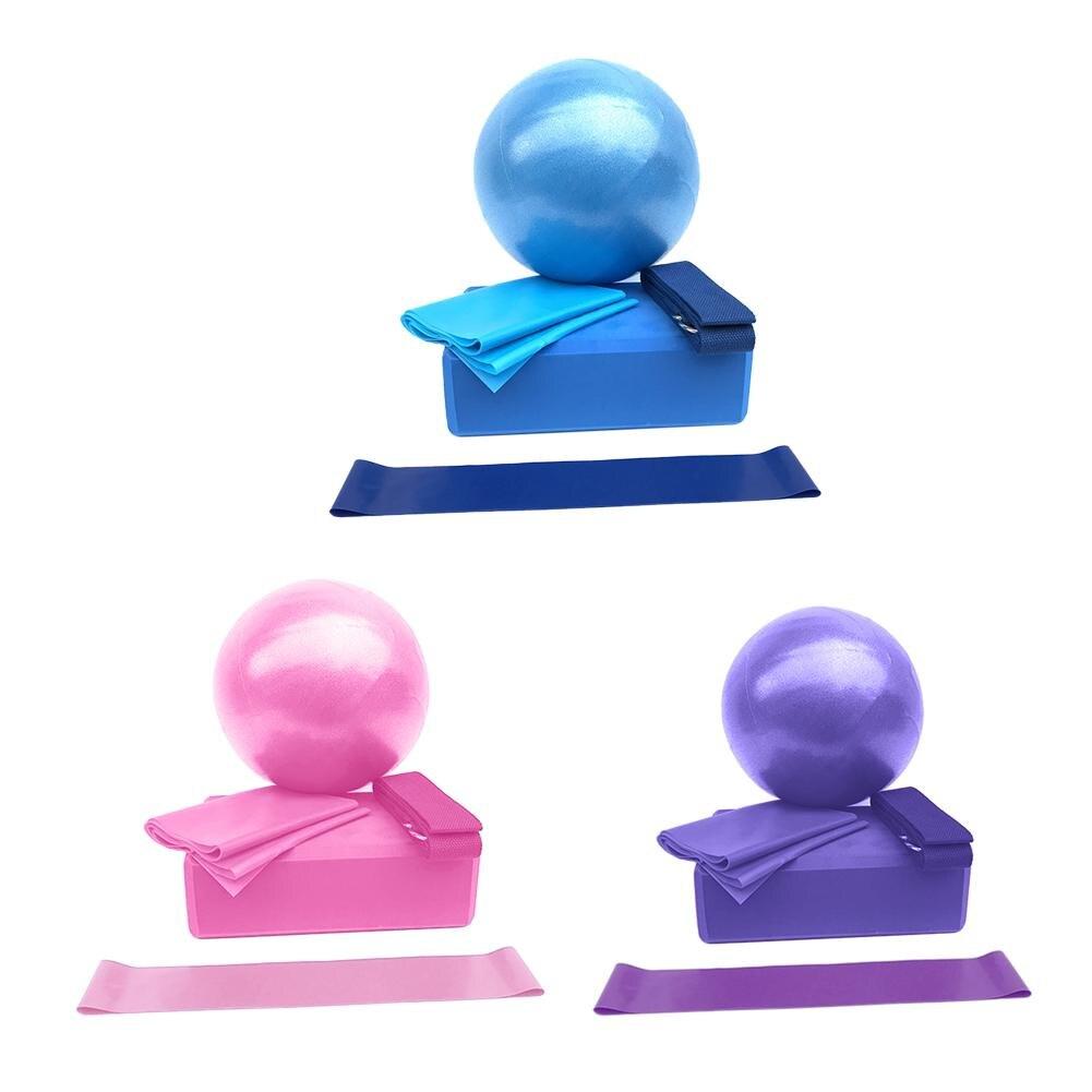 Anel de Banda de Estiramento Banda de Tensão Equipamentos de Fitness Bola Yoga Telha Látex Resistência 5 Pçs – Set