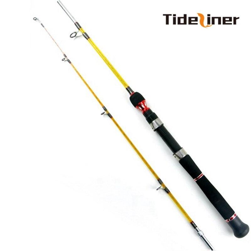Tideliner-canne à pêche spinning, 1.6m, 1.8m, 2 sections, pour pêche en fibre de verre super forte, pour pêche en bateau