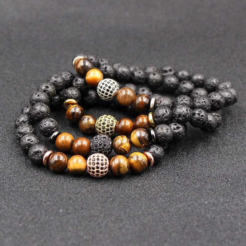 Moomstone lava Buda natural cuentas Mcllroy pulsera bolsa de regalo gratis hombre...