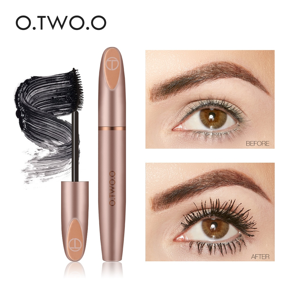 O.TWO.O 3D Silk Fiber Eyelash Black Mascara Waterproof Long Lasting Lash Thick Mascara Long Eyelashes Extension Make Up Mascara недорого